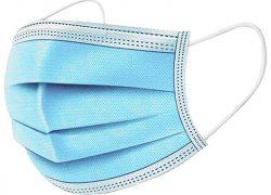 Ochranné rúška jednorázové 3-vrstvové vysokej kvality z netkanej textílie – 5000 kusov