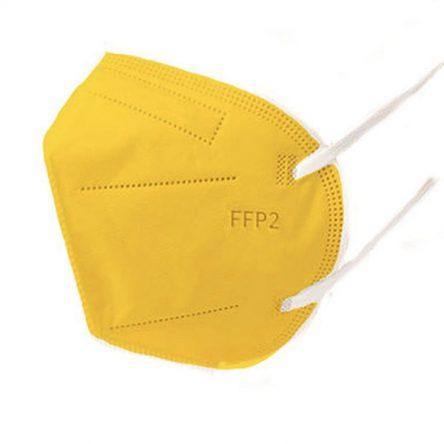 Respirátor FFP2 vyrobený v EÚ – Žltý