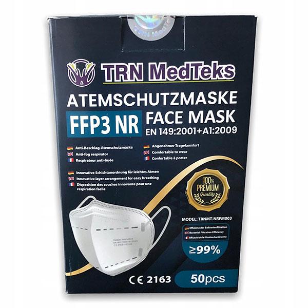 TRN Medteks FFP3 Respirátor, certifikovaný, účinnosť nad 99%